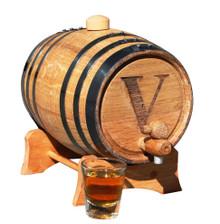 Personalized 1 Liter Mini-Oak Whiskey Barrel