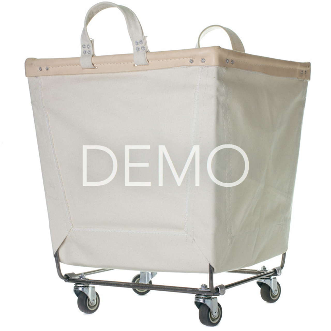 sample canvas laundry cart