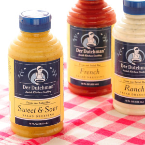 If you've ever been to our salad bars, you know that our salad dressings are some of the best around. Made in our own kitchens, our Der Dutchman salad dressings are now available online for the first time.  Available in 16oz bottles.