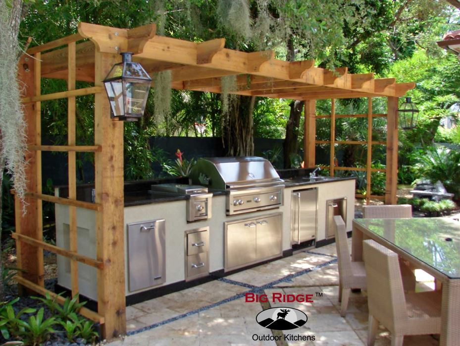 prefab outdoor kitchen galleria