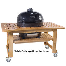 Primo PRM603 Teak Table For Oval XL400 Grill
