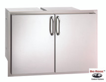 Fire Magic 33930S-22 Select 30 Inch Enclosed Double Door Storage With Dual Drawers On Each Side