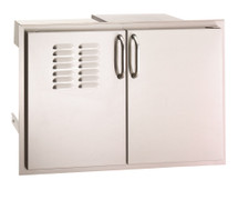 Fire Magic 33930S-12T Select 30 Inch Double Access Door With Dual Drawers, Louvers, & Propane Tank Storage