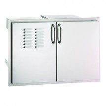 Fire Magic 53930SC-12T Premium Flush Mount 30 Inch Double Doors With Tank Tray, Louvers, and Dual Drawers