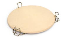 "Primo PRM349 All-In-One Heat Deflector Kit  Includes Rack & 16"" Unglazed Pizza Stone"