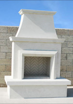 AFD045 Contractor's Model Outdoor Fireplace With Moulding
