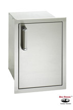 Fire Magic 53820-SR Premium Right Hinged Flush Mount 14 Inch Single Door W/Dual Drawers