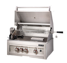 "SUN3B-IR Sunstone 3 Burner 28"" Grill With Infrared Back Burner And Rotisserie"