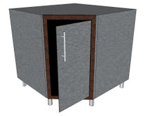 Challenger Inside Corner Base Module With One Door & Inside Shelf Includes Countertop & Finished Back-Mix & Match To Design Your Own Layout! Completely Finished-Choose Your Own Colors!