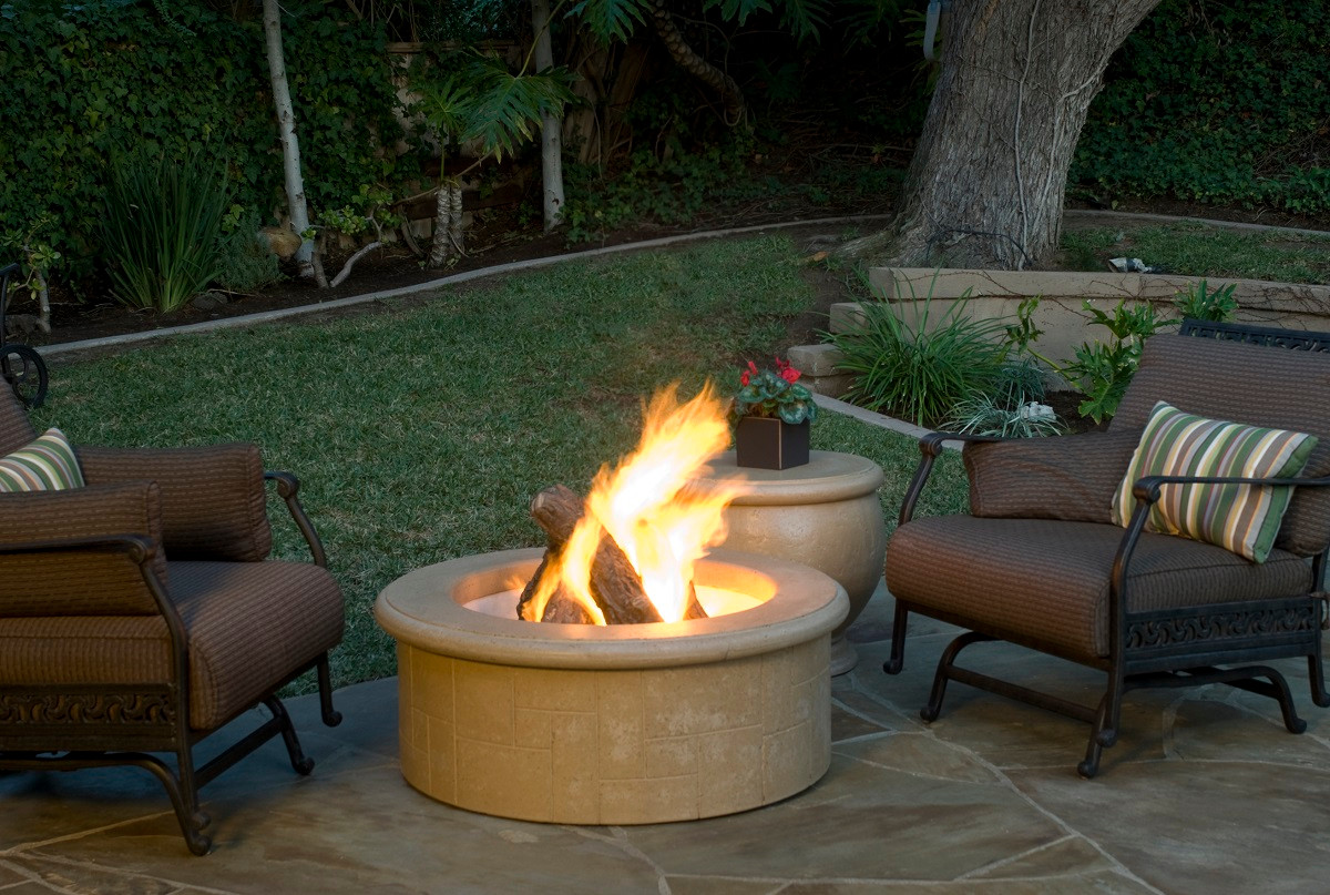 Afd681 el dorado round fire pit big ridge outdoor kitchens for Eldorado stone fire pit