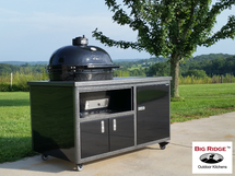 "Primo PRC900CHOG14189 Oval XL Smoker BBQ Grill Jack Daniels Edition  Plus Challenger 54"" Grill Cart Complete Package"