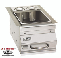 Fire Magic 1D-S0 Ice Bin Cooler Built-In Bar Caddy