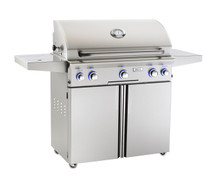 AOG 36PCL L-Series 36-Inch Gas Grill On Cart Rotisserie & Side Burner