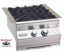 Fire Magic 19-SLB2N-0 Aurora Built-In Gas Power Burner Featuring Cast Brass Burner With Porcelain Cast Grid