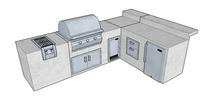 Big Ridge Monterrey L-Shaped Aluminum Outdoor Kitchen Package