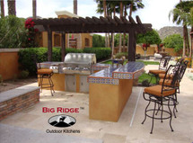 Big Ridge Monterrey L-Shaped Aluminum Outdoor Kitchen Package