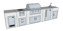Big Ridge Montgomery 13' Aluminum Outdoor Kitchen Package