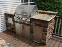 Big Ridge Alexandria 8' Aluminum Outdoor Kitchen Package
