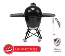 Primo All-In-One Package PRM773 Kamado Smoker BBQ Grill Plus Heavy Duty Stand, Side Shelves, Ash Tool, & Grate Lifter