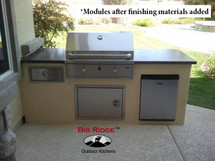 Big Ridge North Shore 9' Aluminum Outdoor Kitchen Package