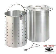 Fire Magic 3570 26 Quart Aluminum Turkey Fryer Pot With Basket & Thermometer