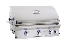 AOG 30NBL-00SP L-Series 30-Inch Built-In Gas Grill With Interior Halogen Lighting