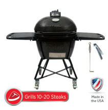 Primo All-In-One Package PRM7500 LG300 Smoker BBQ Grill Plus Heavy Duty Stand, Side Shelves, Ash Tool, & Grate Lifter