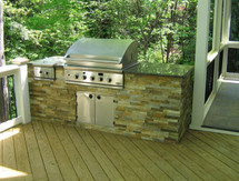 Big Ridge Dakota 7' Aluminum Outdoor Kitchen Package