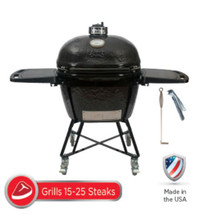 Primo All-In-One Package PRM7800 XL400 Smoker BBQ Grill Plus Heavy Duty Stand, Side Shelves, Ash Tool, & Grate Lifter