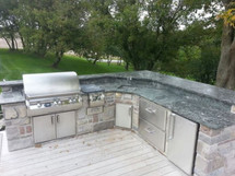 Big Ridge Augusta L-Shaped Aluminum Outdoor Kitchen Package