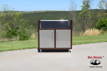 Challenger Gas Grill Base Module With Two Doors, Countertop & Finished Back-Various Widths Available-Mix & Match To Design Your Own Layout! Completely Finished-Choose Your Own Colors!