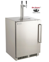 Fire Magic 3594DL 24-Inch Left Hinged Outdoor Built-In Dual Tap Stainless Steel Kegerator