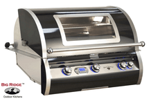 Fire Magic H790I-4E1N-W Echelon Black Diamond 36-Inch Built-In Gas Grill With Magic View Window - H790i-4E1N-W