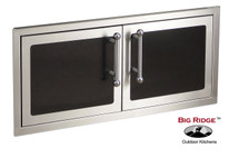 Fire Magic Echelon Black Diamond Reduced Height Double Access Doors - 53938H
