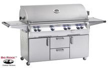 Fire Magic E1060s-4E1N-62 Echelon Diamond 48-Inch Gas Grill With Flush Mounted Single Side Burner, Wood Chip Smoker Drawer, & Rotisserie Backburner On Cart + Optional FREE Infrared Burner!