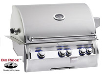 Fire Magic E660i-4EAN Echelon Diamond 30-Inch Built In Analog Thermometer Grill With Rotisserie Back Burners