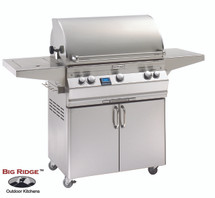 Fire Magic A540s-6EAN-62 Aurora Gas Grill With Single Side Burner & Rotisserie Backburner On Cart