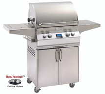 Fire Magic A430s-6EAN-62 Aurora Gas Grill With Single Side Burner & Rotisserie Backburner On Cart