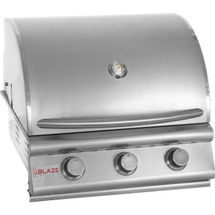 Blaze BLZ-3 25 Inch 3 Burner Natural Or Propane Gas Grill