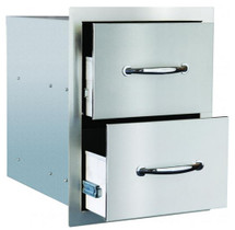 Summerset SSDR-2  15-Inch Stainless Steel Flush Mount Double Access Drawers