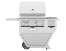 Hestan GABR30CX Stainless Steel Deluxe Grill Cart With 30-Inch Propane Or Natural Gas Grill With Rotisserie & Worktop