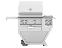 Hestan GABR30CX2 Stainless Steel Deluxe Grill Cart With 30-Inch Propane Or Natural Gas Grill With Rotisserie And Double Side Burner