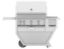 Hestan GABR36CX Stainless Steel Deluxe Grill Cart With 36-Inch Propane Or Natural Gas Grill With Rotisserie & Worktop