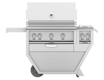 Hestan GABR36CX2 Stainless Steel Deluxe Grill Cart With 36-Inch Propane Or Natural Gas Grill With Rotisserie And Double Side Burner