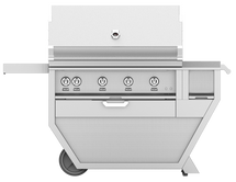 Hestan GABR42CX Stainless Steel Deluxe Grill Cart With 42-Inch Propane Or Natural Gas Grill With Rotisserie & Worktop