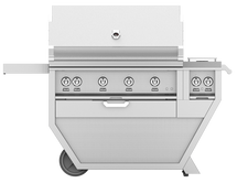 Hestan GABR42CX2 Stainless Steel Deluxe Grill Cart With 42-Inch Propane Or Natural Gas Grill With Rotisserie And Double Side Burner