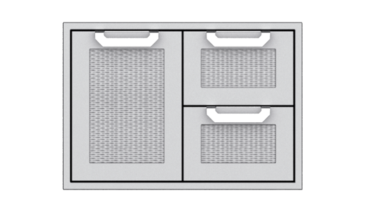 Hestan Agsdr30 30 Inch Double Drawer And Single Storage Door Combo