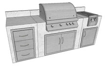 Big Ridge Alexia 8' Aluminum Outdoor Kitchen Package