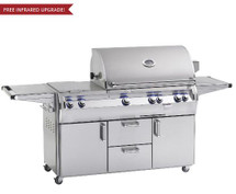 Fire Magic E660s-4EAN-71 Echelon Diamond 30-Inch Freestanding Gas Grill With Analog Thermometer And Double Side Burner