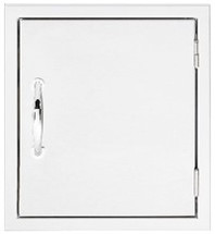 Summerset SSMD-1 Mini Vertical Stainless Steel Flush Mount Single Access Door- Large Enough To Fit Propane Tank Through